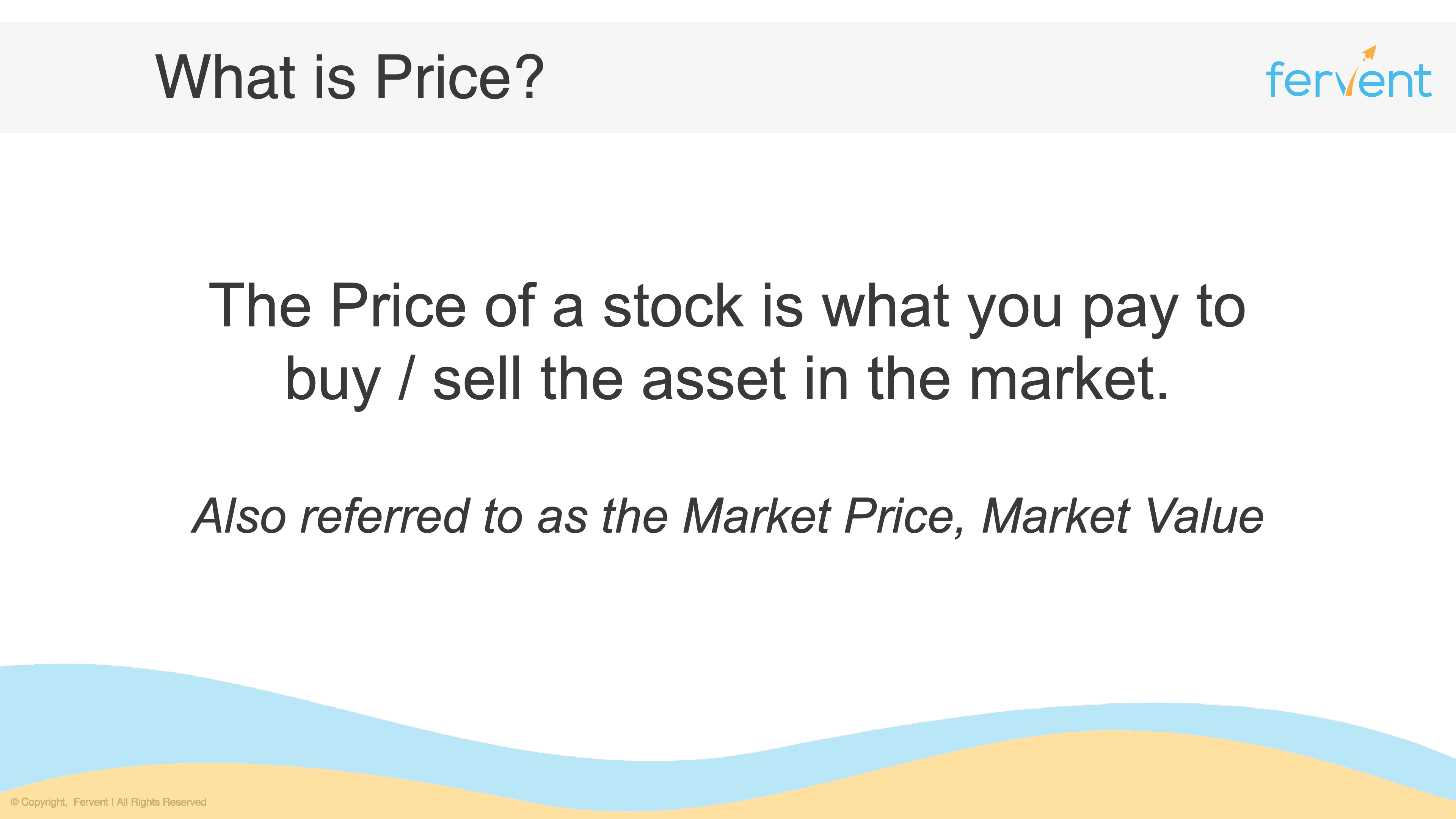Slide explaining what Price is in the context of investment fundamentals