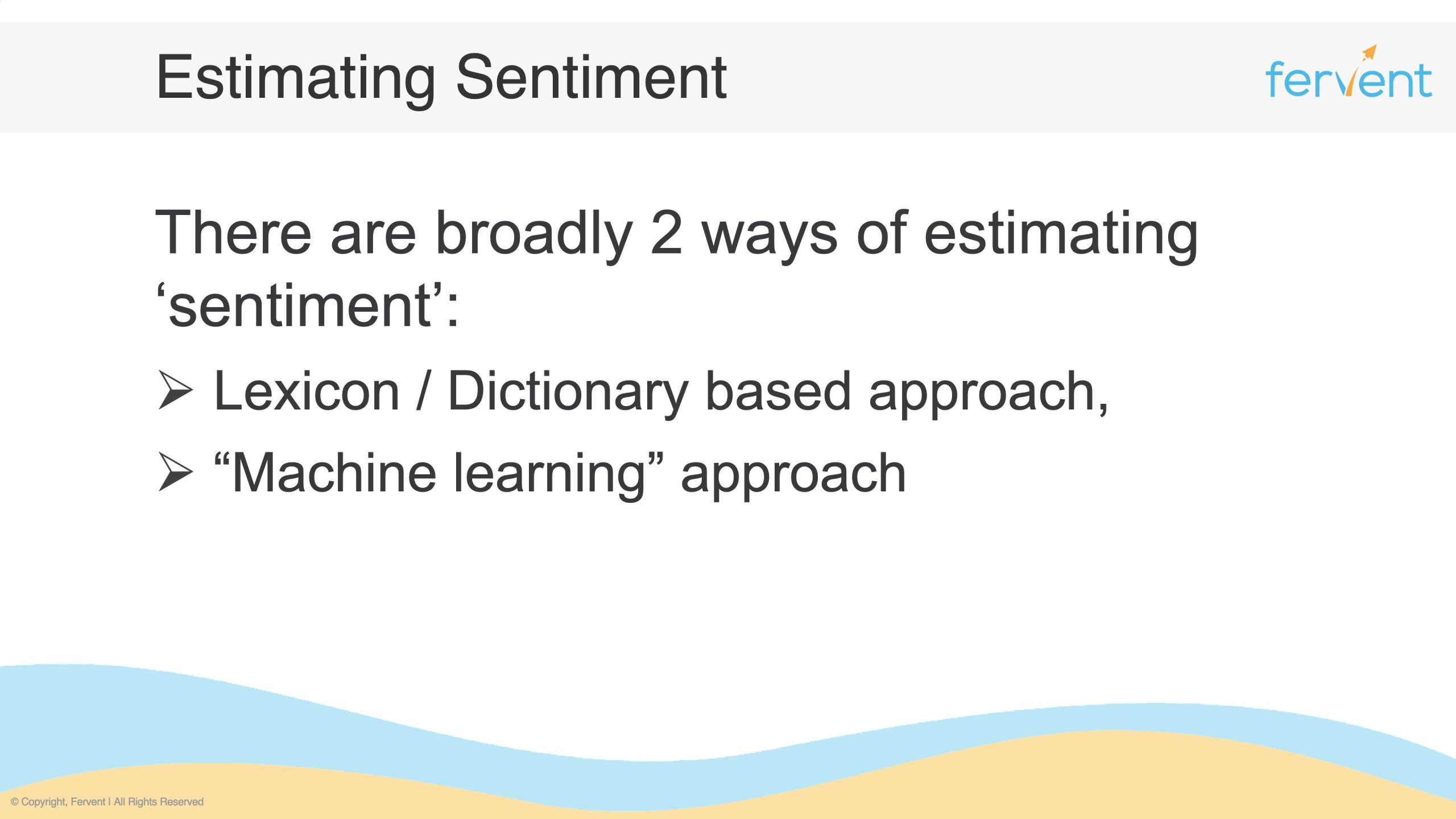 Slide showcasing approaches for sentiment analysis in finance