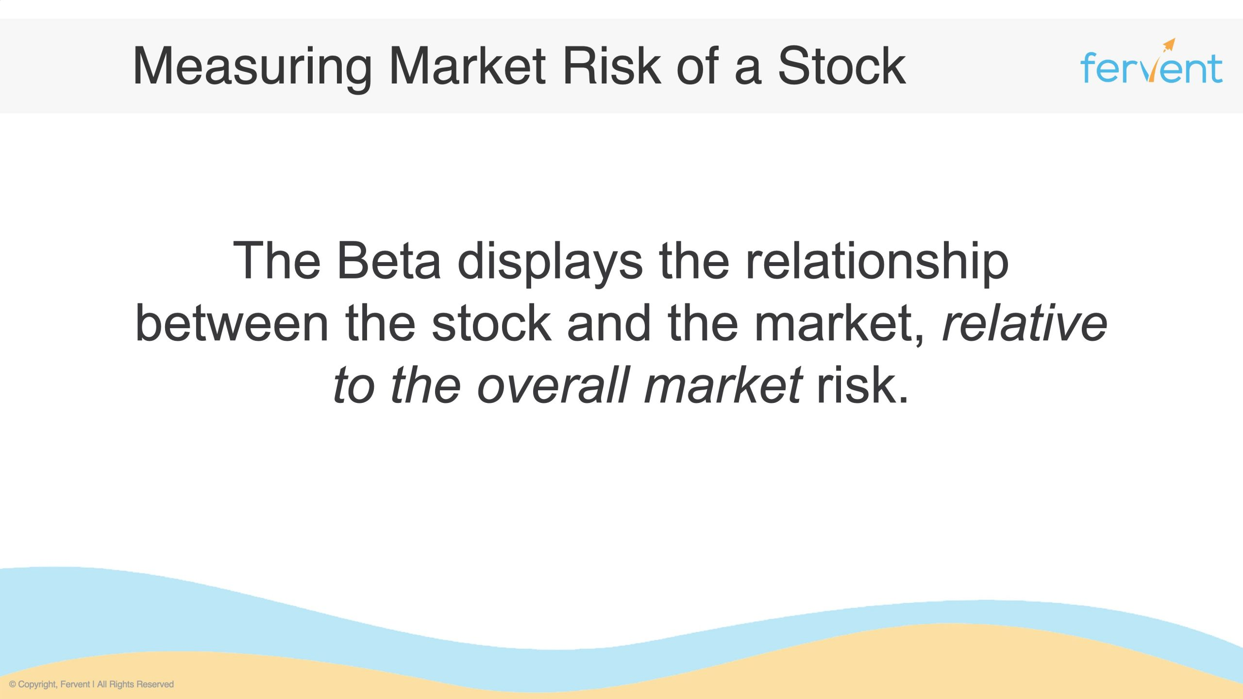 Slide showcasing what is systematic risk by explaining what the Beta is