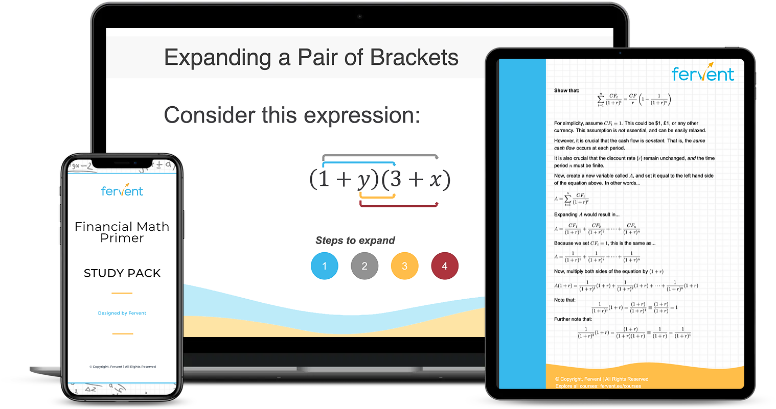 Financial Math Primer for Absolute Beginners Course - Featured Image