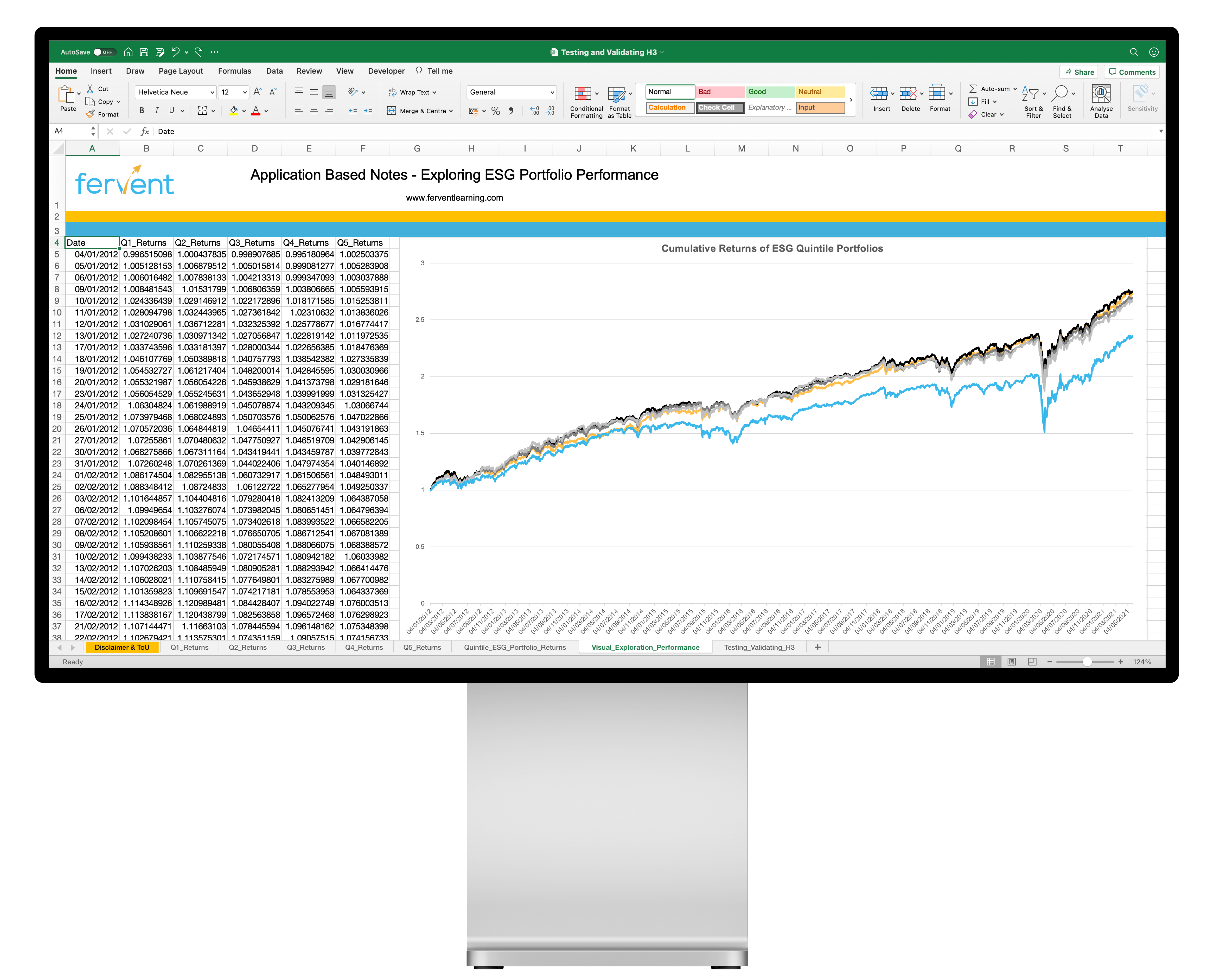 Data Driven Investing Course (with Excel) Feature